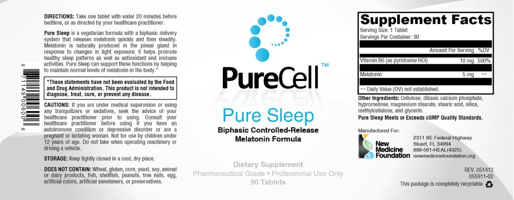 Pure Sleep label