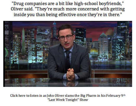 John Oliver Slams Big-Pharma!!